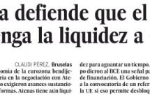 Europa defiende que el BCE mantenga la liquidez a Grecia