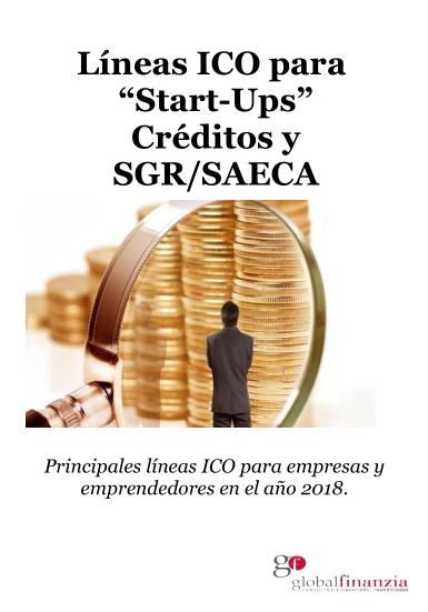 Portada Líneas ICO para Start-ups, Créditos, y SGR/SAECA